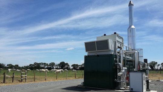 Vidéo sur l'unité de cogénération biogaz de Méthabates dans le Maine-et-Loire