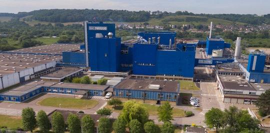 La nouvelle chaudière à marc de café de l'usine Nestlé de Dieppe