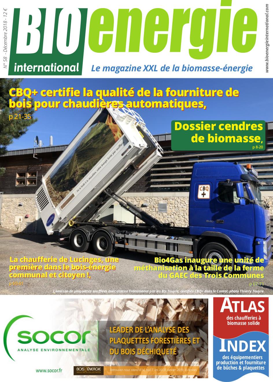 Bioénergie International n°58 – Décembre 2018