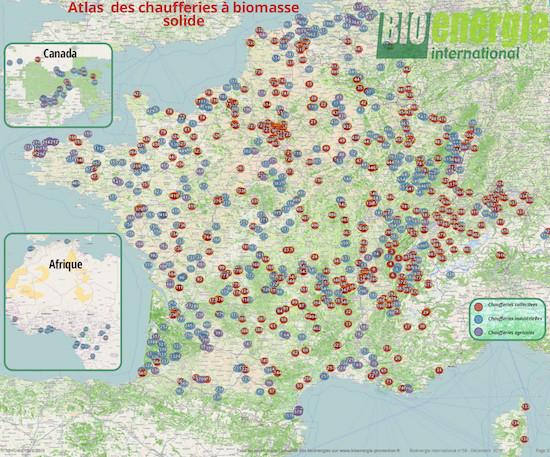 L'atlas des 1000 plus grandes chaufferies à biomasse de la Francophonie