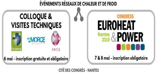 6 au 8 mai 2019 à Nantes, conférences sur les réseaux de chaleur et de froid