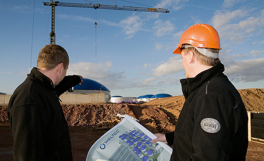 Weltec construit une centrale qui va fournir du biométhane à 9 600 foyers britanniques