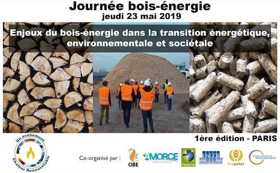 23 mai 2019 à Paris, première journée nationale du bois-énergie