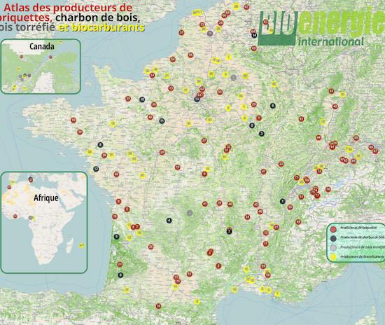 Atlas 2019 des producteurs de briquettes biocombustibles de la Francophonie