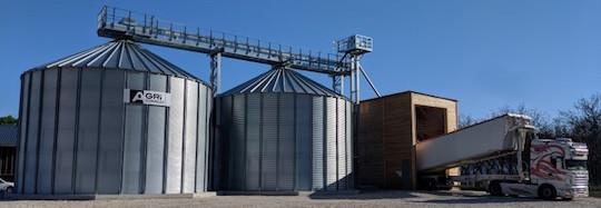 21 juin 2019, la SAS Barraquand inaugure son nouveau stockage de granulés de bois