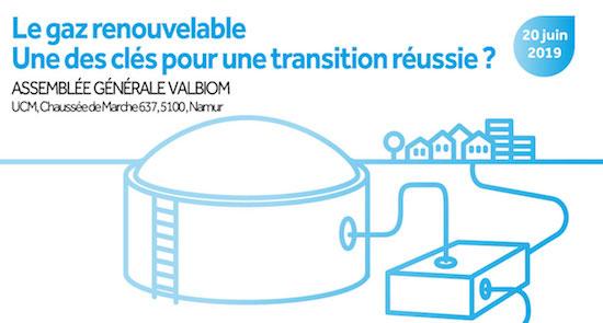 Le gaz renouvelable, l'une des clés pour une transition réussie, le 20 juin 2019 à Namur