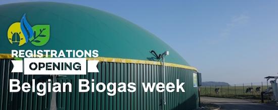 26, 27 et 29 novembre 2019, semaine belge du biogaz