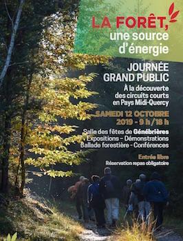 12 octobre 2019, le bois-énergie et la forêt en Quercy