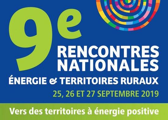 25 au 27 septembre 2019, rencontres nationales énergie et territoires ruraux