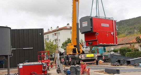 Les deux chaudières à bois Uniconfort de 1 et 2 MW sont arrivées à Saint-Affrique