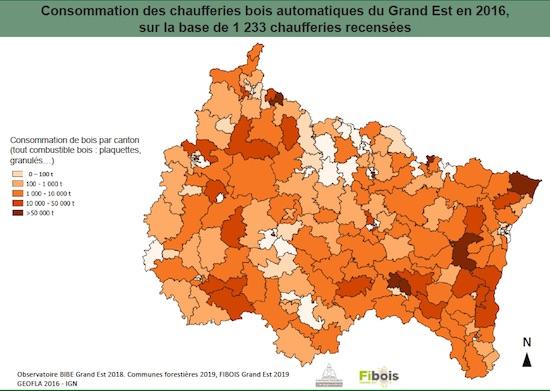 La filière bois-énergie dans la région française du Grand-Est