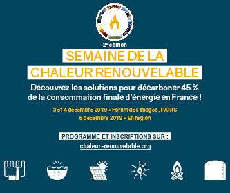 Semaine de la chaleur renouvelable en France, les 3, 4 et 5 décembre 2019