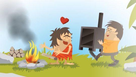 Maitrise ton chauffage au bois et évite l'utilisation d'un feu ouvert !