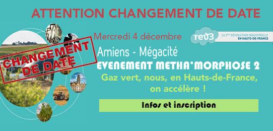 Métha'morphose, le biométhane injecté, le 4 décembre 2019 à Amiens