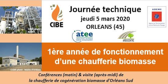CIBE, 5 mars 2020, la première  année d'exploitation d'une chaufferie biomasse