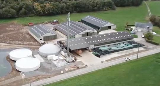 L'unité de méthanisation de la ferme de la Roche Madou près de Namur