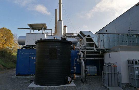 ETW installe deux moteurs de cogénération biogaz avec catalyseur SCR