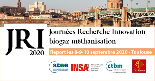 24 au 26 mars 2020, Journées Recherche Innovation Biogaz Méthanisation