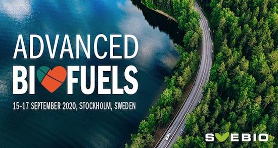 15–17 septembre 2020 à Stockholm, conférence sur les biocarburants avancés