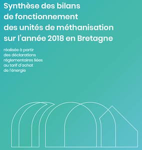 Bilan de fonctionnement de 61 unités de méthanisation bretonnes en 2018