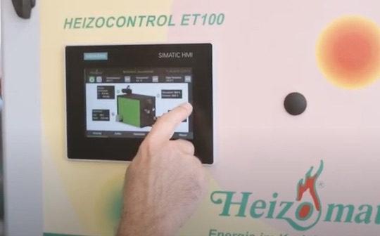 Les chaudières automatiques à bois  Heizomat désormais équipées du nouvel écran tactile Siemens