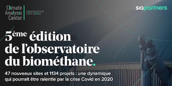 L'Observatoire Sia Partners 2020 du biomethane en France est en ligne