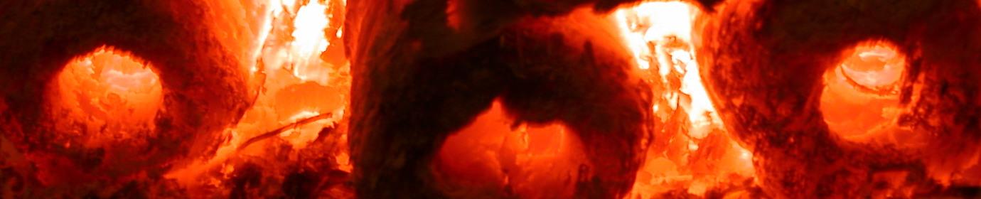 Combustion de briquettes à vis, photo Frédéric Douard