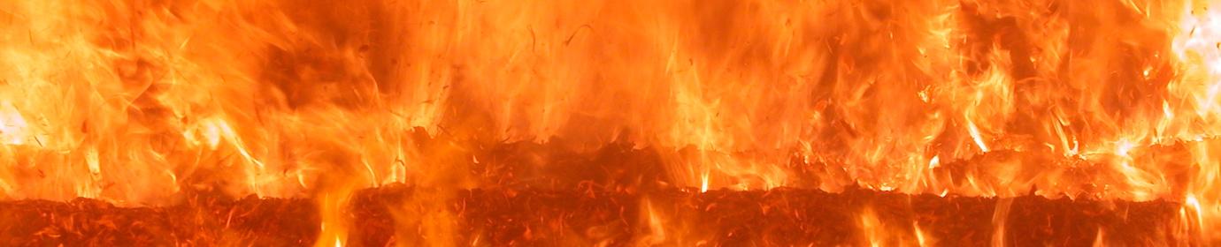 Combustion de bois déchiqueté sur grille mobile, photo Frédéric Douard