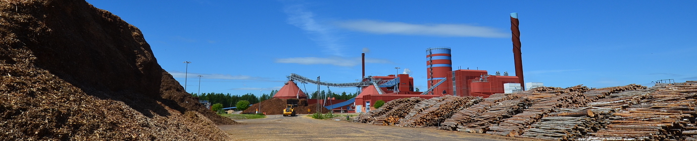 Vue de la centrale biomasse de Falun en Suède, photo Frédéric Douard