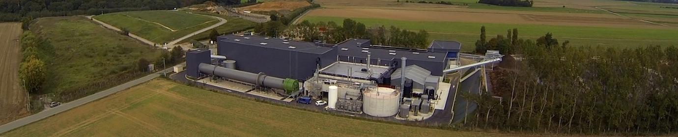 L'usine de méthanisation de Brametot, photo Valor'Caux