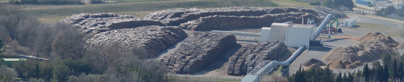 Parc à bois de la centrale biomasse de Gardanne, photo Frédéric Douard