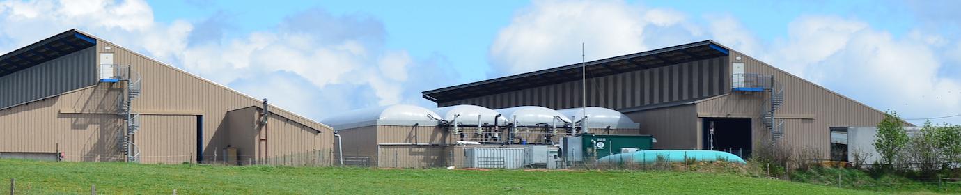 Unité de méthanisation en voie sèche de Pigerolles, photo Frédéric Douard