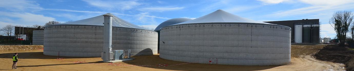 La centrale biométhane de Quimper, photo Frédéric Douard