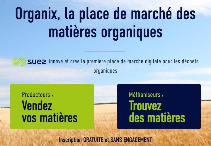 Organix®, première place de marché digitale pour les matières organiques en France