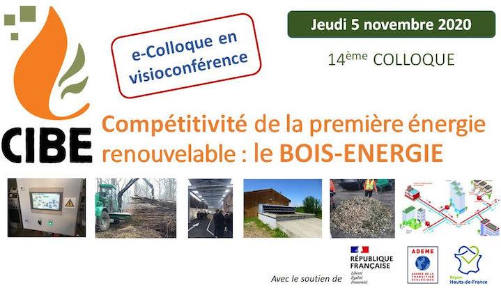 5 novembre 2020, colloque digital du CIBE sur la compétitivité du bois-énergie