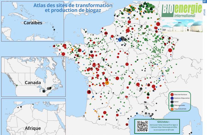 L'atlasbiogaz Bioénergie International est consultable en ligne