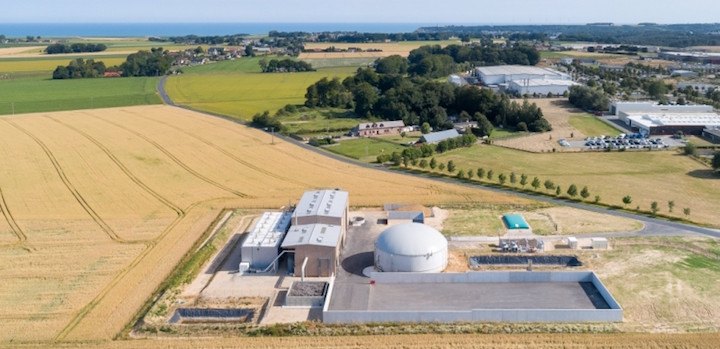 Un digesteur en flux piston pour la Centrale Biogaz des Hautes Falaises de Fécamp