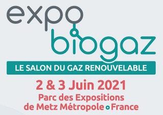 La dixième édition du salon Expobiogaz se tiendra les 2 & 3 juin 2021 à Metz