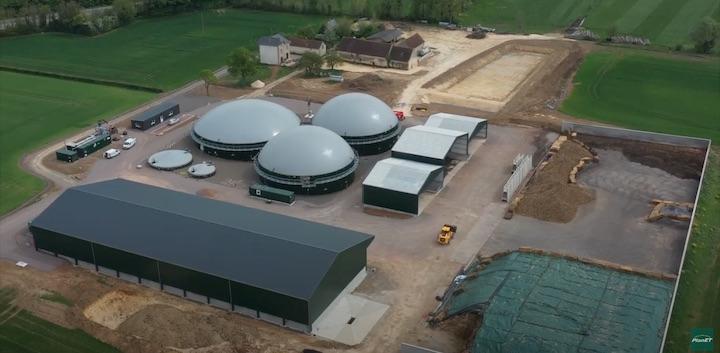 Vidéo de la construction de Beaulieu Méthanergie produisant du biogaz de CIVE