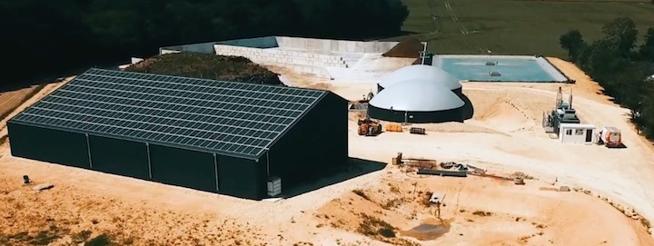 Vidéo sur l'unité de méthanisation de la Mosellerie Bio Énergie en Touraine