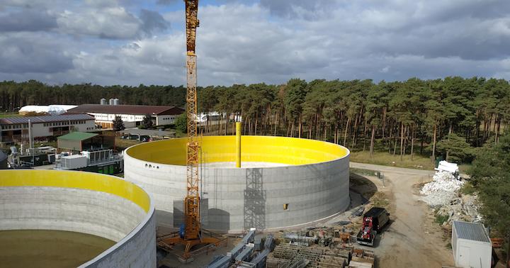 Le WireTarp d'Agrotel offre une protection contre la corrosion du béton des digesteurs