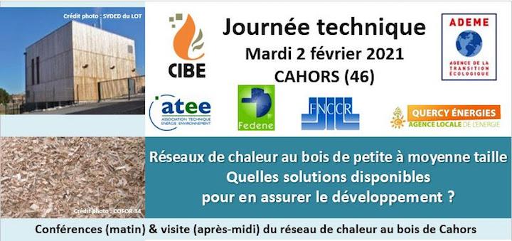 Journée technique sur les réseaux de chaleur au bois le 2 février 2021 à Cahors