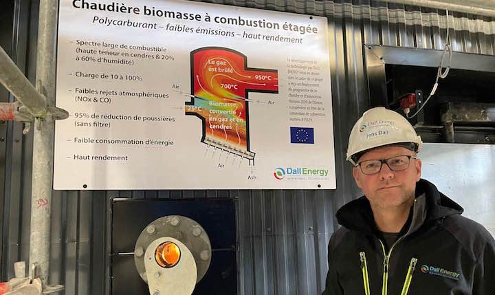 Premier feu de la chaudière biomasse Dall Energy de la Petite Bouverie à Rouen