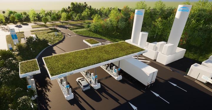 La station-services de Réau distribuera du méthane compressé 100% bioGNC