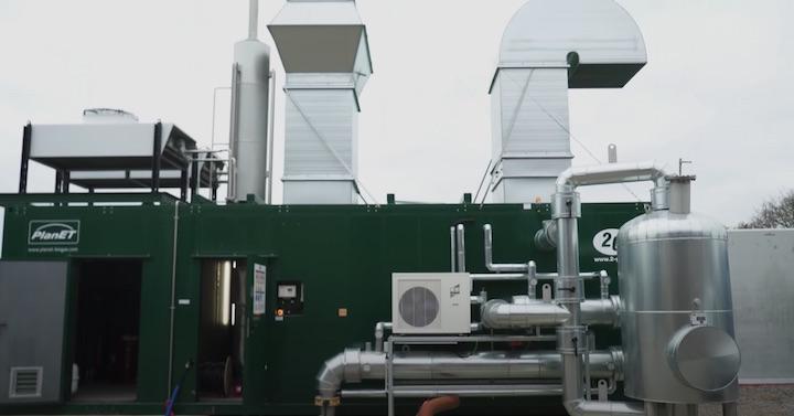 La centrale de cogénération au biogaz du Gaec de Bocquemare en Normandie