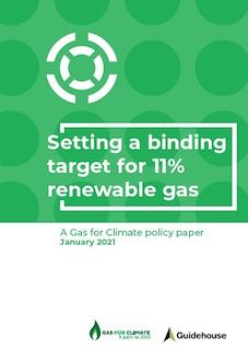Gas for Climate demande 11% de gaz renouvelables d'ici 2030 dans l'UE