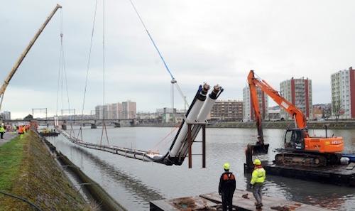 A Boulogne-sur-Mer, le réseau de chaleur a été passé sous le fleuve