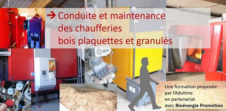 Formation Conduite et maintenance d'une chaufferie biomasse – 11 et 12 mai 2021 à Clermont-Ferrand