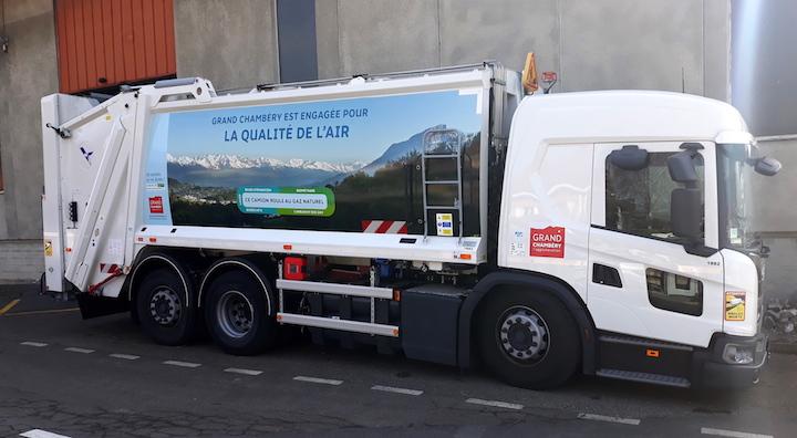 Grand Chambéry fait rouler 4 camions à déchets au BioGNV de la STEP de Bissy
