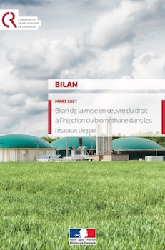 Bilan positif pour le droit à l'injection du biométhane en France